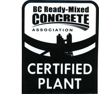 BC Ready-Mixed Concrete Certified Plant
